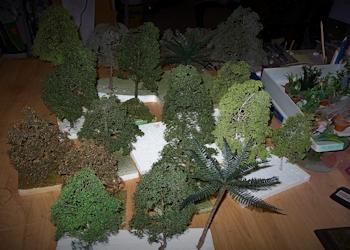 Bäume, Büsche, Palmen