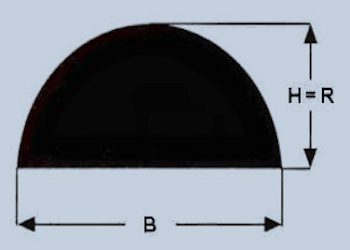 Halbrund-Profil, voll