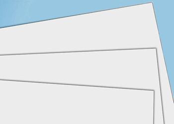 Styrol Platten, weiß