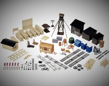 Diorama Zubehör u. Zubehör Bausätze 1:87 bis 1:9