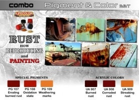 Pigment & Color Set, Rust How reproducing + painting
