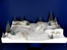 Diorama Grundplatte 65-1, Waldlichtung, 50 x 30 cm, 1:87