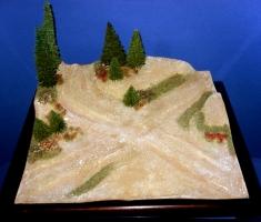 Diorama Grundplatte 33 sandiges Gelände, 30 x 25 cm, 1:87