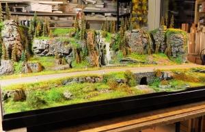 Diorama Grundplatte, Felsenstraße 3, 110 x 50 cm, 1:50