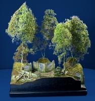 Diorama Grundplatte 49/2 Panzerstellung , 30 x 25 cm, 1:35
