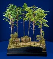 Diorama Grundplatte 49/3 Panzerstellung , 30 x 25 cm, 1:35