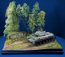 Diorama Grundplatte 66/3, schlammiger Weg am Waldrand, 42 x 30 cm, 1:35