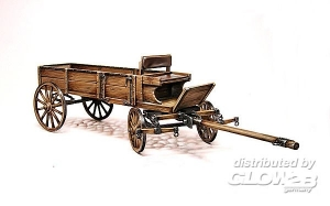 West European Cart, Holz Pferdewagen, in 1:35