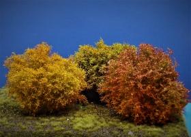 Diorama Zubehör, 1 Modellbaum- Herbst- Busch-Gruppe, 15 - 16 cm hoch