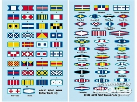 WWII Signal Flags in 1:200