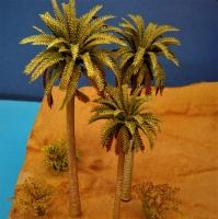 Diorama Zubehör, Palmen Set, 3 Palmen, ca. 16 / 13 / 11 cm