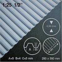 Polystyrol Trapezplatte weiß, H 3,0 mm, 290 x 390 mm