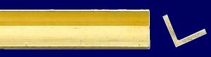 Messing L Profil, gleichseitig gefräst, 2,5 mm