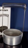 Seng Pinselwascher mit Sieb und Pinselhalter