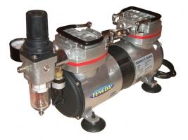 Airbrush Hobby Zweikolben Kompressor, AS-19