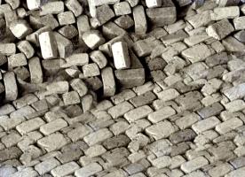 2.500 alte Pflastersteine Granit rechteckig 1:35
