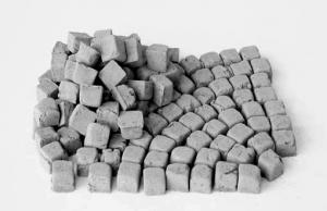 700 alte Pflastersteine Granit klein quadratisch 1:35