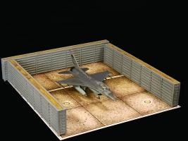 Diorama Bausatz, Flugzeug Splitterschutzbox Vietnam, 1:72