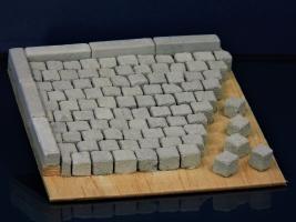 600 Keramik Pflastersteine granit 8 mm quadratig, 1:9