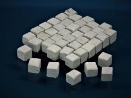 300 Keramik Pflastersteine granit 12 mm quadratig, 1:9