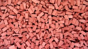 3.000 Keramik Ziegelsteine ziegelrot 1:87 von Juweela