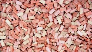 2.000 Keramik Ziegelsteine rotmix 1:72 von Juweela