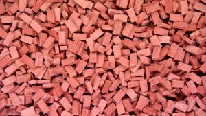2.000 Keramik Ziegelsteine ziegelrot 1:35 von Juweela