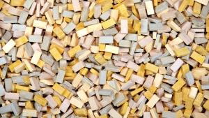 2.000 Keramik Ziegelsteine gelbmix 1:35 von Juweela
