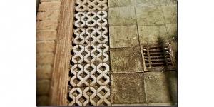 100 Beton Rasengittersteine grau, 1:35 Juweela