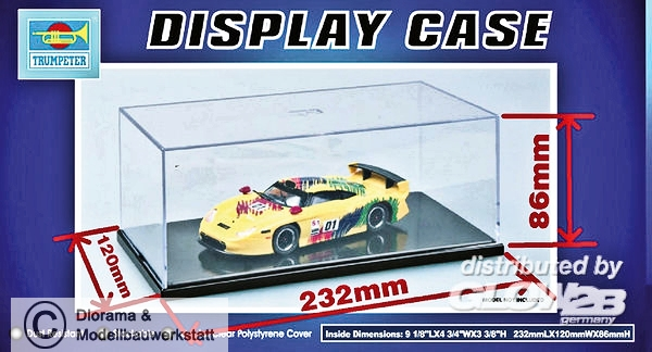 TRUMPETER® 09813 Display Case Acryl Vitrine 232 x 120 x 86mm