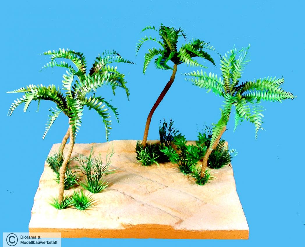 diorama zubeh r 4 colorierte palmen ca 250 mm diorama shop wei diorama und modellbau. Black Bedroom Furniture Sets. Home Design Ideas