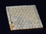 1.000 Keramik Pflastersteine Granit quadratisch 1:35
