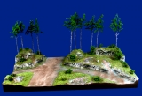 Diorama Grundplatte 70-1, Straße am Hochwald, 50 x 30 cm, 1:87