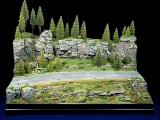 Diorama Grundplatte 65, Waldlichtung mit Straße, 50 x 30 cm, 1:87