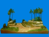 Diorama Grundplatte 70-2, Straßenkreuzung am Hochwald, 50 x 30 cm, 1:87