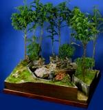 Diorama Grundplatte 49/4 Panzerstellung , 30 x 25 cm, 1:35