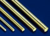 5 Messing Rundstäbe gerade, Ø 2,5 mm, 1.000 mm lang