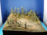 Diorama Grundplatte, Geschützstellung am Waldrand, 50 x 50 cm,1:35