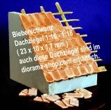 400 Keramik Biberschwanz Dachziegel, ziegelrot 1:16/18
