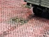4 Pflastersegmente Ziegel rot fischgrät, 1:48 Juweela
