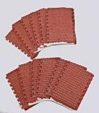 8 Pflastersegmente Knochenpflaster rot + Halbsteine, 1:35 Juweela