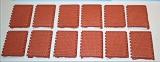 12 Pflastersegmente Knochenpflaster rot, 1:35 Juweela
