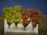 Diorama Zubehör, 8 Modellbau- Büsche blühend, 3,5 cm hoch