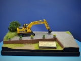 Diorama, Baumaschinen Verleih, 40 x 26 cm, 1:48