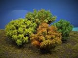 Diorama Zubehör, 1 Modellbaum- Busch-Gruppe, 10 - 12 cm hoch