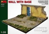 Mauer mit Grundplatte in 1:35