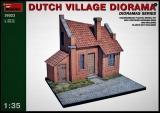 Diorama Bausatz, Dorfstraße mit Holländischem Haus in 1:35