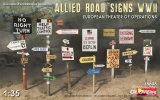 Allied Road Signs WWII. European Theatre of Operations in 1:35