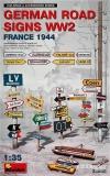 German Road Signs WW2 (France 1944) in 1:35