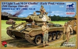 US Light Tank M-24 Chaffee (WWII Prod.), mit Besatzung in 1:35